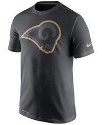 Nike Men's Los Angeles Rams Travel T Shirt Anthracite