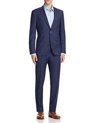Hugo Broken Micro Box Check Slim Fit Suit Bright Blue