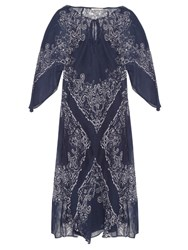 Mes Demoiselles Bonita Bandana Print Dress Blue