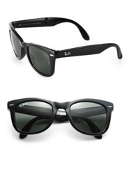 Ray Ban Folding Square Wayfarer Sunglasses Havana Black