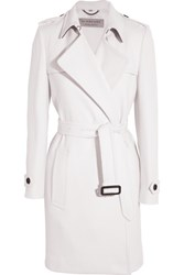 Burberry London Belted Cashmere Coat White