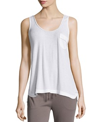 Skin Contrast Piping Tank White