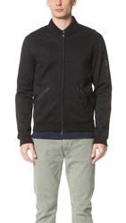 Todd Snyder Tech Varsity Bomber Jacket Black