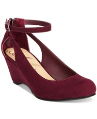 American Rag Miley Chop Out Wedges Women's Shoes Wine