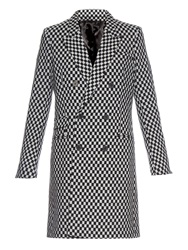Haider Ackermann Check Board Pattern Double Breasted Coat