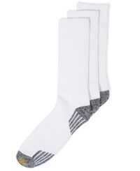 Gold Toe Socks 3 Pack G Tech Sport Outlast Crew Socks White