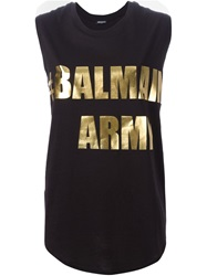 Balmain Sleeveless T Shirt Black