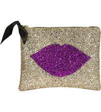 Lisa Bea Sparkle Kiss Large Pouch Gold
