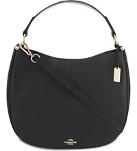 Coach Nomad Glove Tanned Leather Hobo Bag Li Black
