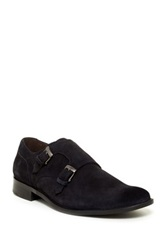 John Varvatos Star Dress Double Monk Strap Oxford Blue