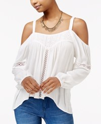 American Rag Cold Shoulder High Low Peasant Top Only At Macy's Off White