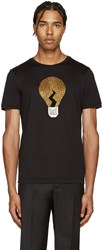 Fendi Black Embellished Bulb T Shirt