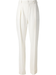 Le Bon Marche X The Webster High Waisted Tailored Trousers White