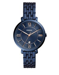 Fossil Jacqueline Stainless Steel Bracelet Watch Blue