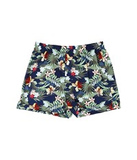 Tommy Bahama Island Washed Cotton Woven Boxer Tropical Breeze Navy Multi Men's Underwear