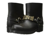 Just Cavalli Rubber Rain Boot W Sliding Logo Black