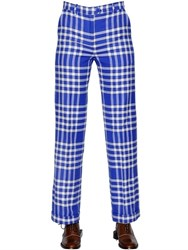 Jacquemus Straight Fit Checked Cotton Blend Pants