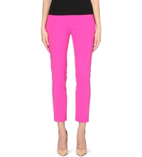 Sportmax Stretch Cotton Cropped Trousers Fuscia