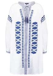 Warehouse Tunic Blue White