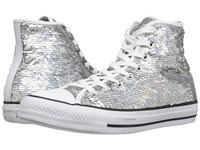 Converse Chuck Taylor All Star Holiday Party Hi Silver White Black Women's Shoes