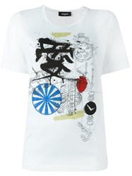 Dsquared2 Mechanical Sketch T Shirt White
