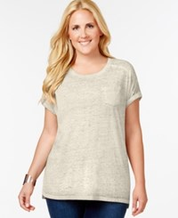 Styleandco. Style And Co. Plus Size Pocket T Shirt Stonewall