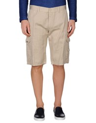 Bikkembergs Trousers Bermuda Shorts Men Beige