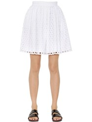 House Of Holland Alice Embroidered Cotton Skirt
