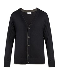Raey Double Trim Cashmere Cardigan Navy