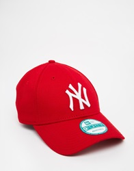 New Era 9Forty Ny Adjustable Cap Red
