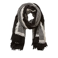 Betty Barclay And Co Textured Print Scarf Nature Black