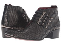Jeffery West 4 Buckle Chukka Black Men's Shoes