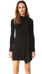 Edun Draped Wool Wrap Dress Black