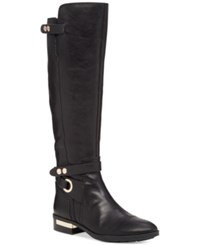 Vince Camuto Prini Wide Calf Tall Boots Women's Shoes Black Wc