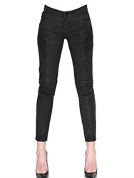Balmain Stretch Waxed Cotton Denim Jeans