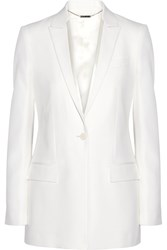 Givenchy Satin Trimmed Blazer In Cream Grain De Poudre Wool