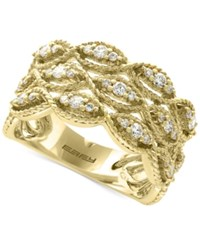 Effy D'oro By Diamond Filigree Ring 1 2 Ct. T.W. In 14K Gold Yellow Gold