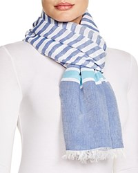 Altea Multi Stripe Scarf Blue White