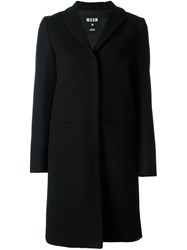 Msgm Welt Pockets Mid Length Coat Black