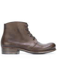 Dimissianos And Miller Lace Up Ankle Boots Brown