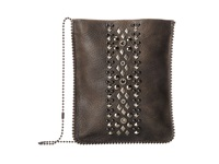 Leather Rock Cp60 Beast Grey Hematite Cross Body Handbags Black