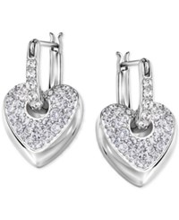 Swarovski Dangle Heart Hoop Earrings