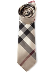 Burberry London House Check Tie Nude And Neutrals
