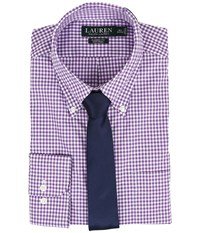 Lauren Ralph Lauren Classic Button Down With Pocket Dress Shirt Purple White Men's Long Sleeve Button Up