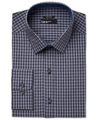Bar Iii Men's Slim Fit Gingham Dot Dress Shirt Only At Macy's Navy