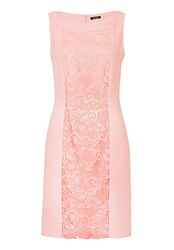 Vera Mont Crepe And Lace Shift Dress Pink