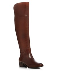 Vince Camuto Bendra Whipstitch Wide Calf Tall Boots Russet