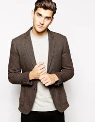 United Colors Of Benetton Blazer In Slim Fit Charcoal