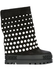 Casadei Chunky Sole Boots Black