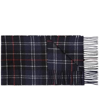 Barbour Tartan Lambswool Scarf Navy And Red